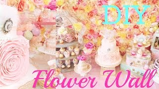 DIY Flower Wall   Amberallure