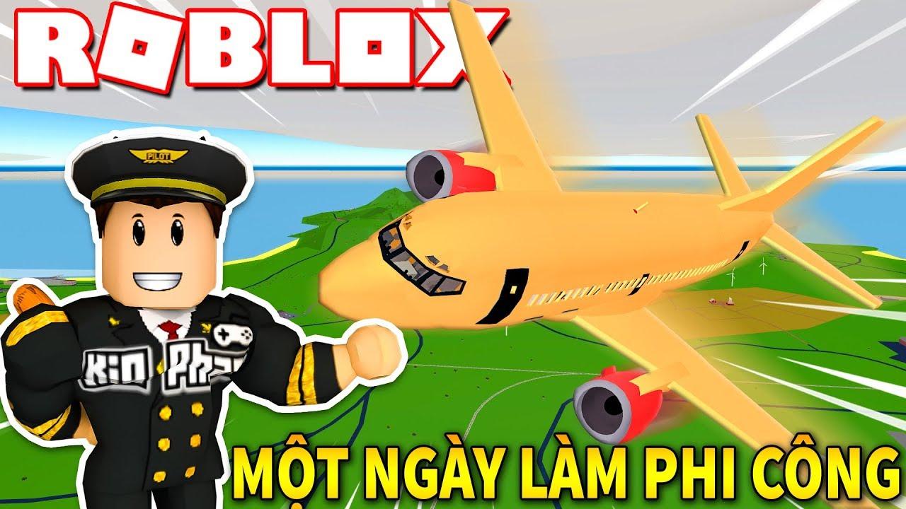 Roblox | 24 GIỜ LÀM PHI CÔNG LÁI ĐỦ LOẠI MÁY BAY – Pilot Training Plane Simulator | KiA Phạm