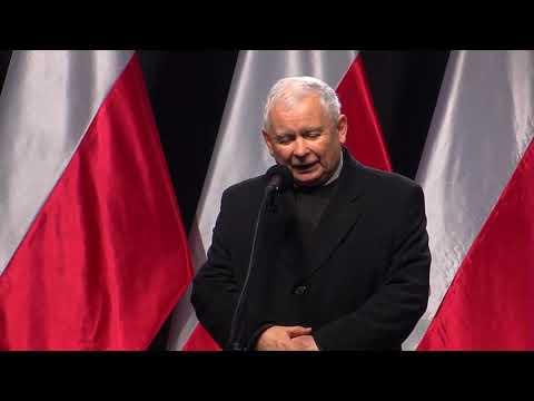 Jarosław Kaczyński - Uroczystość odsłonięcia Pomnika Śp. Prezydenta RP Lecha Kaczyńskiego