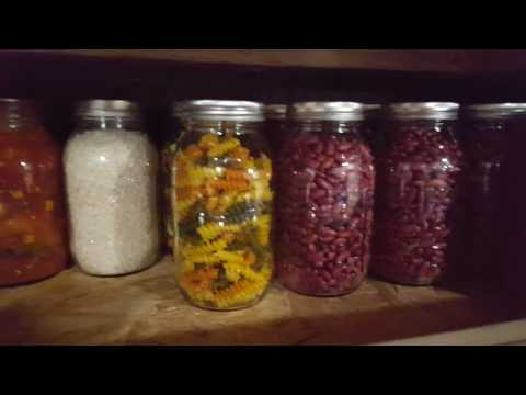 My prepping pantry for long-term food and water storage