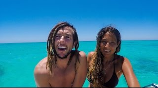 Sailing Nandji - Ep 15, Great Keppel island. Chinese Gybe & dolphins bow ride