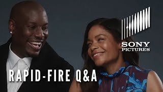 BLACK AND BLUE - Rapid-Fire Q&A (Naomie Harris & Tyrese)