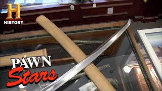 Pawn Stars: EXPENSIVE TRADE for a Vintage Samurai Sword (Season 8) | History