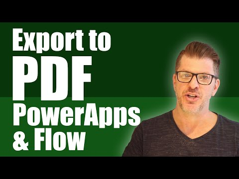 Developing Microsoft PowerApps - Exporting To PDF