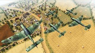 LUFTWAFFE BOMBERS SMASH TRENCH DEFENSE AT KURSK 1943 | Men of War: Assault Squad 2 Gameplay