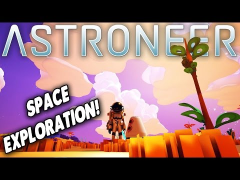 Astroneer - Cave Exploration! Base Building! - Let's Play Astroneer Gameplay & Highlights - Part 1