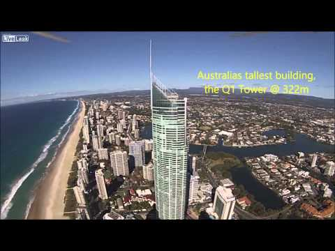 drone over australia tallest building