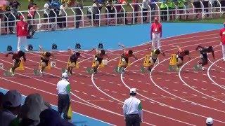 105年全大運 一般男子組田徑100公尺決賽 泓霖