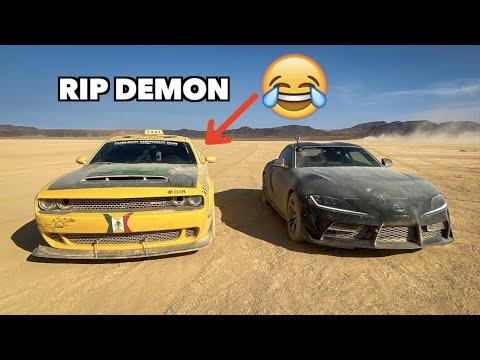 MODDED TOYOTA SUPRA DESTROYS DODGE DEMON!!