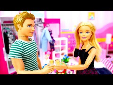 Кукла Барби готовит СЮРПРИЗ для Кена— Ачто запраздник? —Видео для девочек скуклами Барби иКен