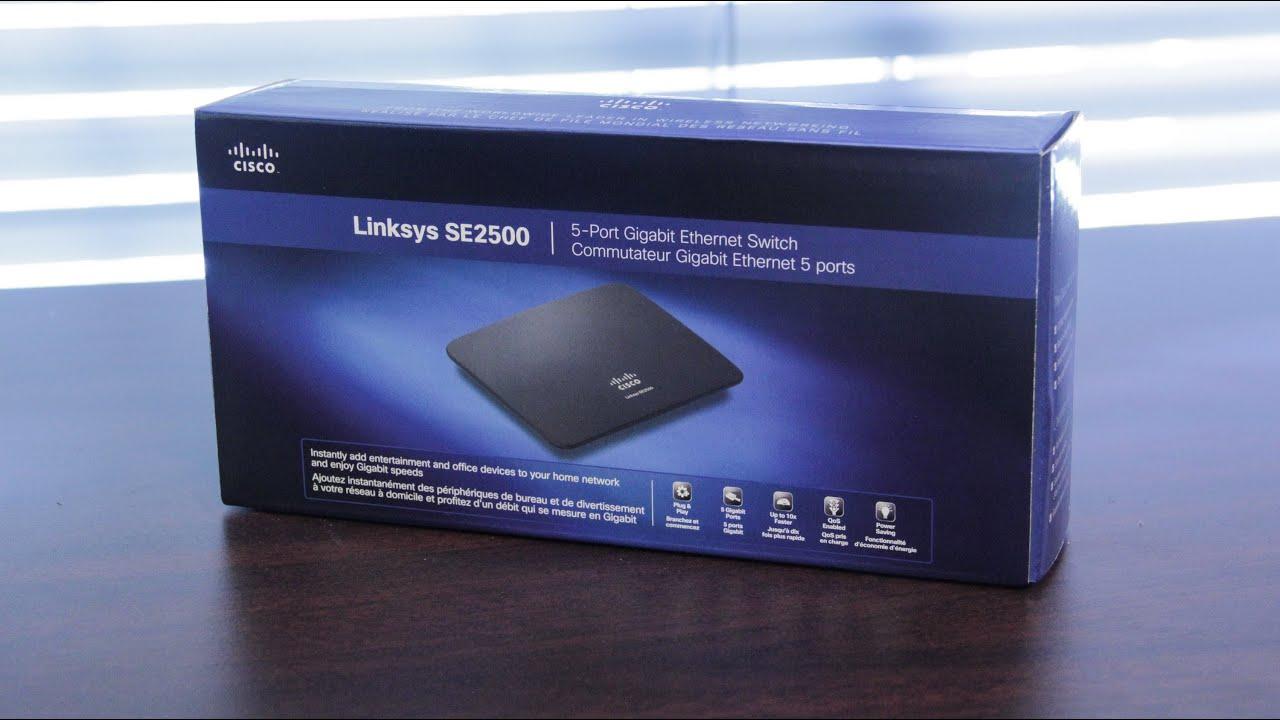 Linksys SE2500 5-Port Gigabit Ethernet Switch Unboxing