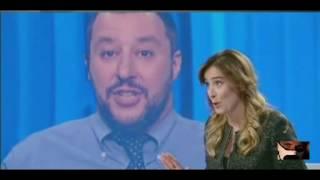 Matteo Salvini Vs Maria Elena Boschi - Referendum  07/10/2016
