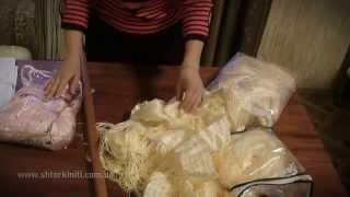 видео Нитяные шторы своими руками, занавески из нитей