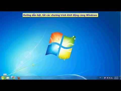 Cách Tắt Các Chương Trình Khởi động Cùng Windows