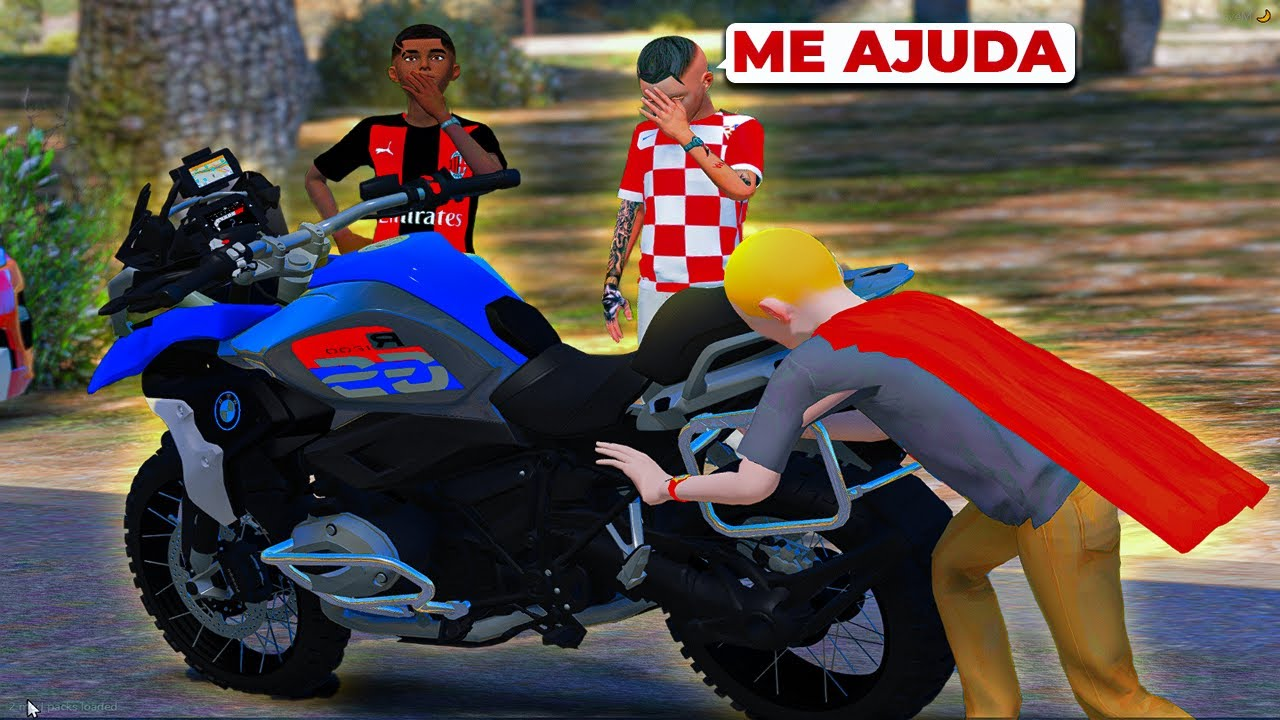 O MENOR ME AJUDOU NA ESTRADA ABANDONADA | GTA 5: VIDA REAL #95