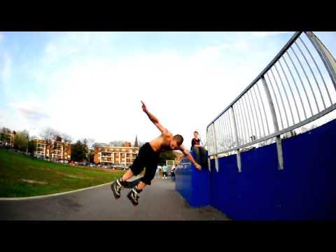 Pat Curran - Misty Flip over a fence. Winthrop, MA.