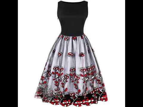 74c13ff3c Te gustaron los vestidos vintage  Mira los nuevos modelos... - YouTube