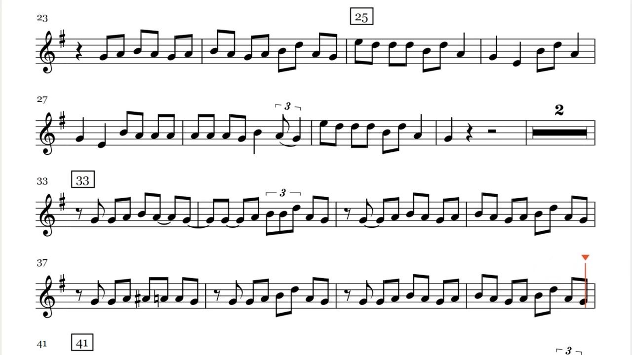 Lukas Graham 7 Years Saxophone Sheet Music Play Along