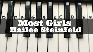 Most Girls - Hailee Steinfeld | Easy Keyboard Tutorial With Notes (Right Hand) Mp3