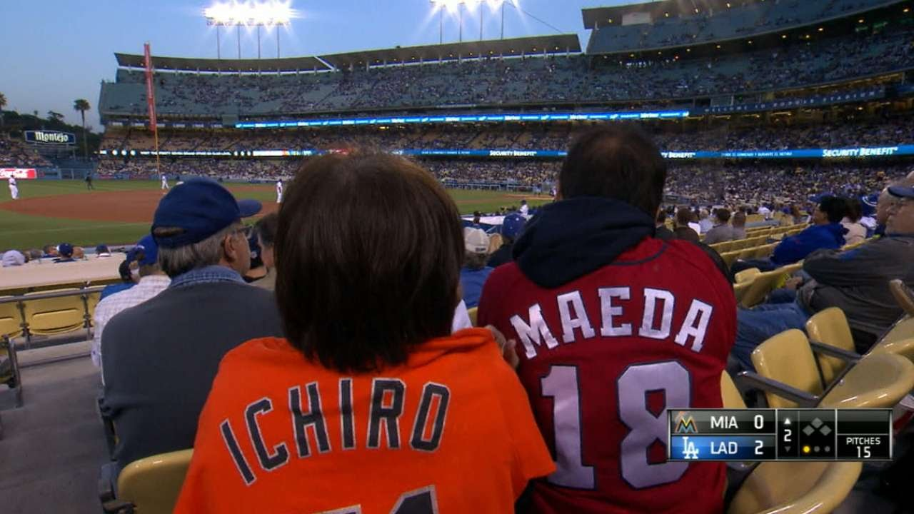 Maeda and Ichiro meet for the first time - YouTube