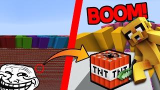LA CARRERA MÁS TROLL DE TNT EN MINECRAFT 😂 ¡IMPOSIBLE NO REIRSE! | MAPA MINECRAFT 1.12