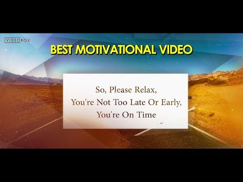 How To Motivate Yourself || Best Inspirational Video || By VIDEOBOX