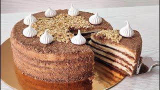 знаменитый СМЕТАННЫЙ торт МИШКА на СЕВЕРЕ без яиц ТАЕТ во рту Без миксера