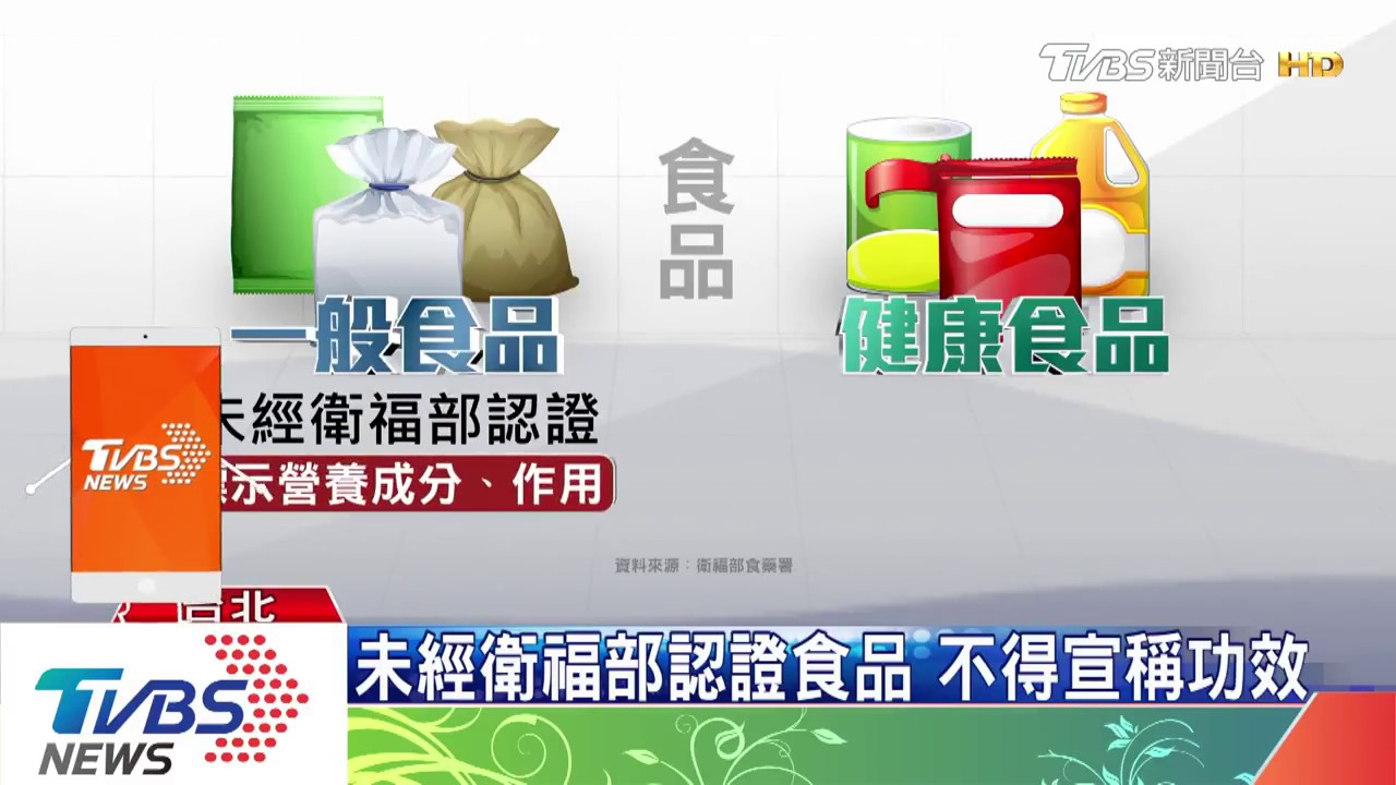 TVBS 一般食品與健康食品差別 - YouTube