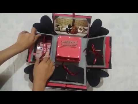 DIY - Explosion Box / Parent's anniversary gift / surprise Box