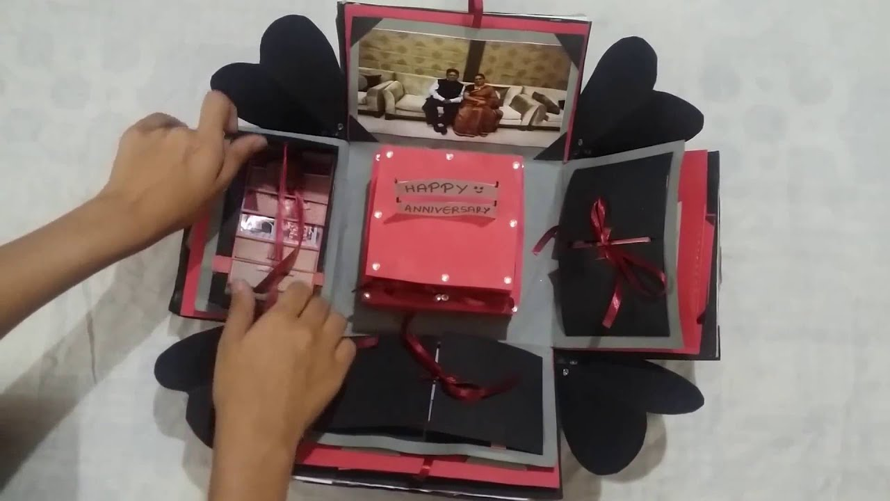 Surprise Gift For Wedding Anniversary: Explosion Box / Parent's Anniversary Gift / Surprise