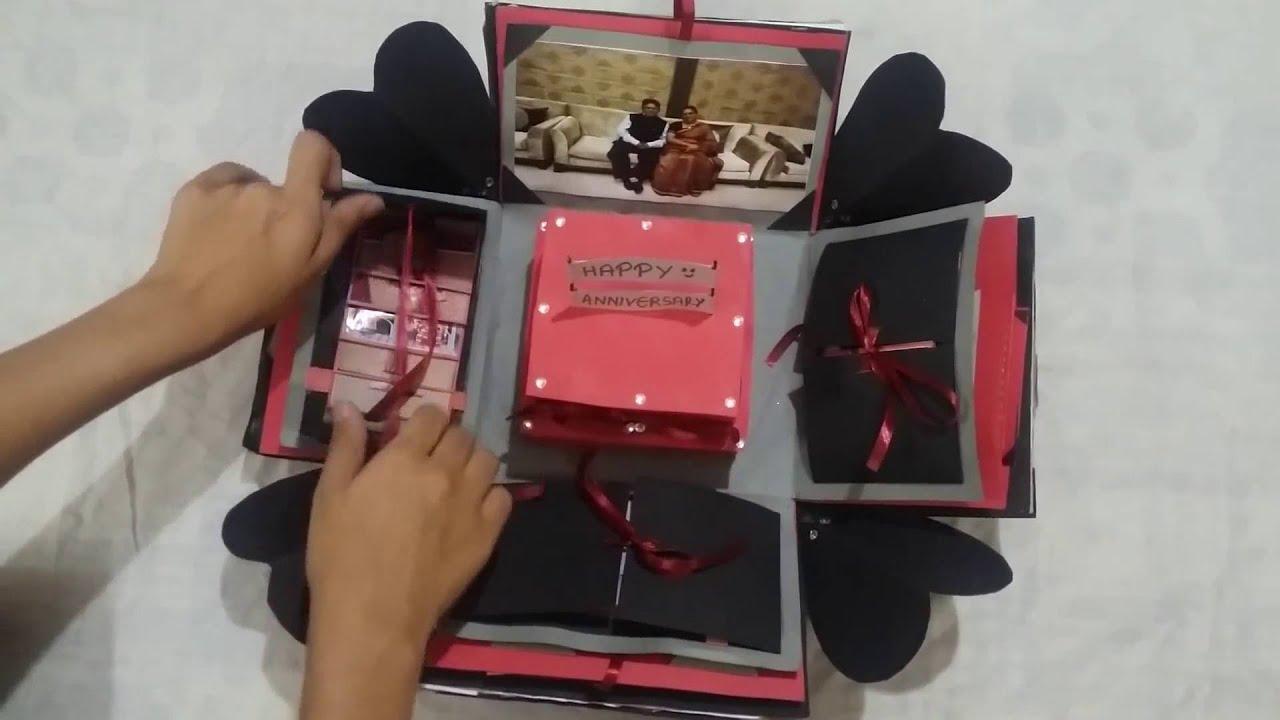 Diy Explosion Box Parent S Anniversary Gift Surprise