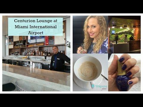 Centurion Lounge At Miami International Airport Tour