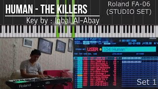 Human - The Killers ( Cover on Roland Fa-06)