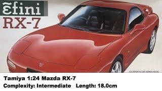 Tamiya 1:24 Mazda RX-7 Kit Review