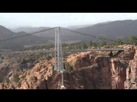 View of Royal Gorge and Bridge from gondola ride-Colorado