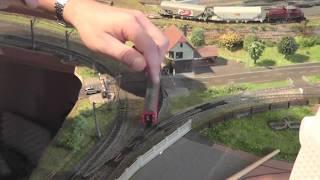 Spur N Modellbahn heute Weiterbau des alten Gleises im BW mit Gästen Teil 2