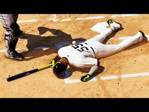 MLB 15 The Show Road to the Show PS4 Gameplay - HIT BY PITCH! Bridges Sneaky Stealing Bases
