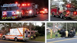 Pre-Arrival/Major Response, MVA w/ Rollover - Volusia County FL