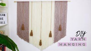 DIY Boho Yarn Wall Hanging || Pinterest Inspired