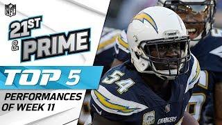 Primetime's Top 5 Performances from Week 11 | Let's Go Primetime | NFL Rush