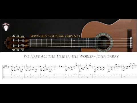We Have All the Time in the World - John Barry - Solo Fingerstyle Guitar Cover