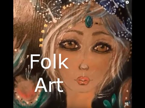 boho whimsy Folk art painting