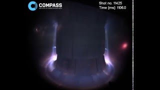 The first high-speed colour video from the COMPASS tokamak