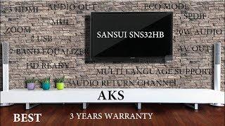 Sansui LED TV SNS32HB UnBoxing & Review by AKS