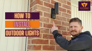 How To Install Outside Lights   Outdoor Light Wiring