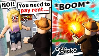 I asked Roblox noobs to pay rent... then blew up their homes with admin
