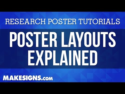Poster Layout - The Best Layout Tips For Your Research Poster - YouTube - scientific poster layouts