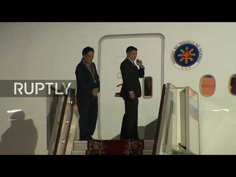 LIVE: Duterte arrives in Moscow: Protocol
