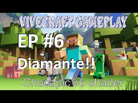 vivecraft minecraft VR c/ shaders EP #6 diamante (sem comentario) HTC VIVE