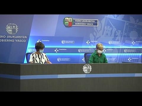 Las consejeras Arantxa Tapia y Nekane Murga actualizan la situación COVID-19 en Euskadi (15-08-2020)